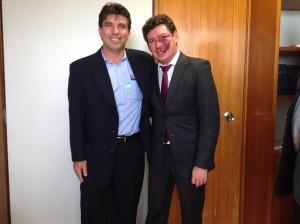 (Esq) O vereador Cleidimar Zanotto e o Deputado Reginaldo Lopes