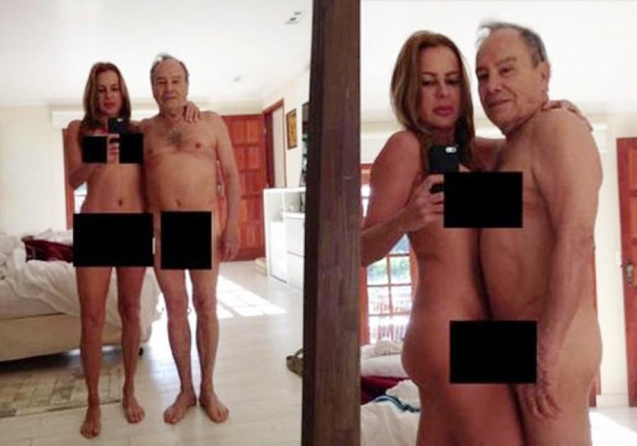 Nudes de Stênio Garcia e sua esposa viralizam na Internet