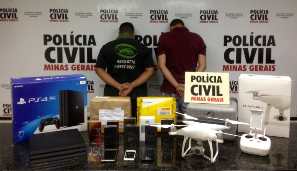 Suspeitos foram presos pela Polícia em Ituiutaba / Foto: PCMG