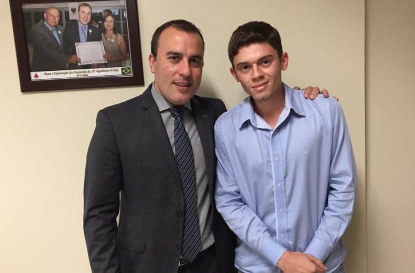 (Esq) Deputado Noraldino e o vereador Daniel França
