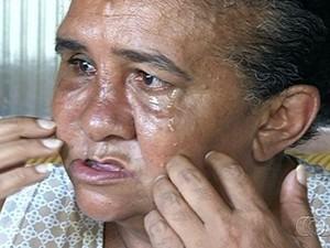 Marina Mirtes ficou cega de um olho e teve o rosto deformado (Foto: Reprodução/ TV Anhanguera)