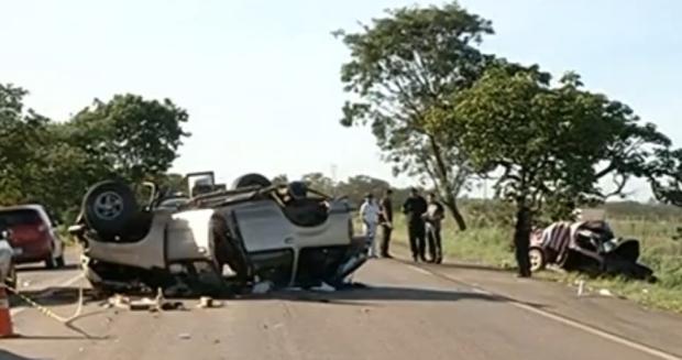 Cinco pessoas da mesma família morrem em acidente
