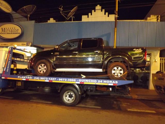 Caminhonete havia sido roubada em Goiatuba-Go em 09/02. Casal espalhou fotos dos veículo em rede social | Foto: Pontal em Foco