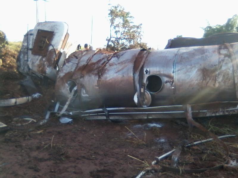 Motorista saiu ileso do acidente. Foto: Diário do Triângulo