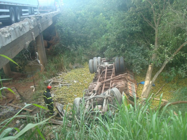 Segundo testemunhas existe uma suspeita que o responsável pelo causa do acidente tenha sido o condutor veículo Fiat Uno, uma vez que ele estava parado na margem da rodovia recolhendo laranjas