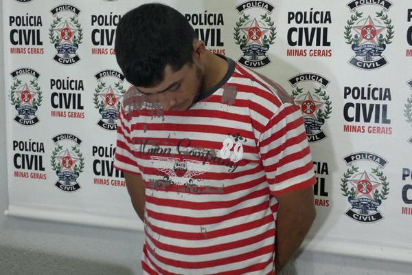 O suspeito preso confessou a prática do crime aos policiais civis, mas disse à imprensa que o explosivo era dele. (FOTO: Diogo Machado)