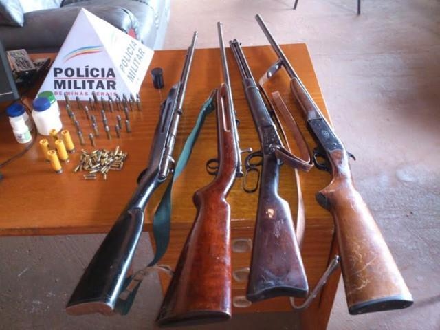 Armas apreendidas / Foto: ASCOM