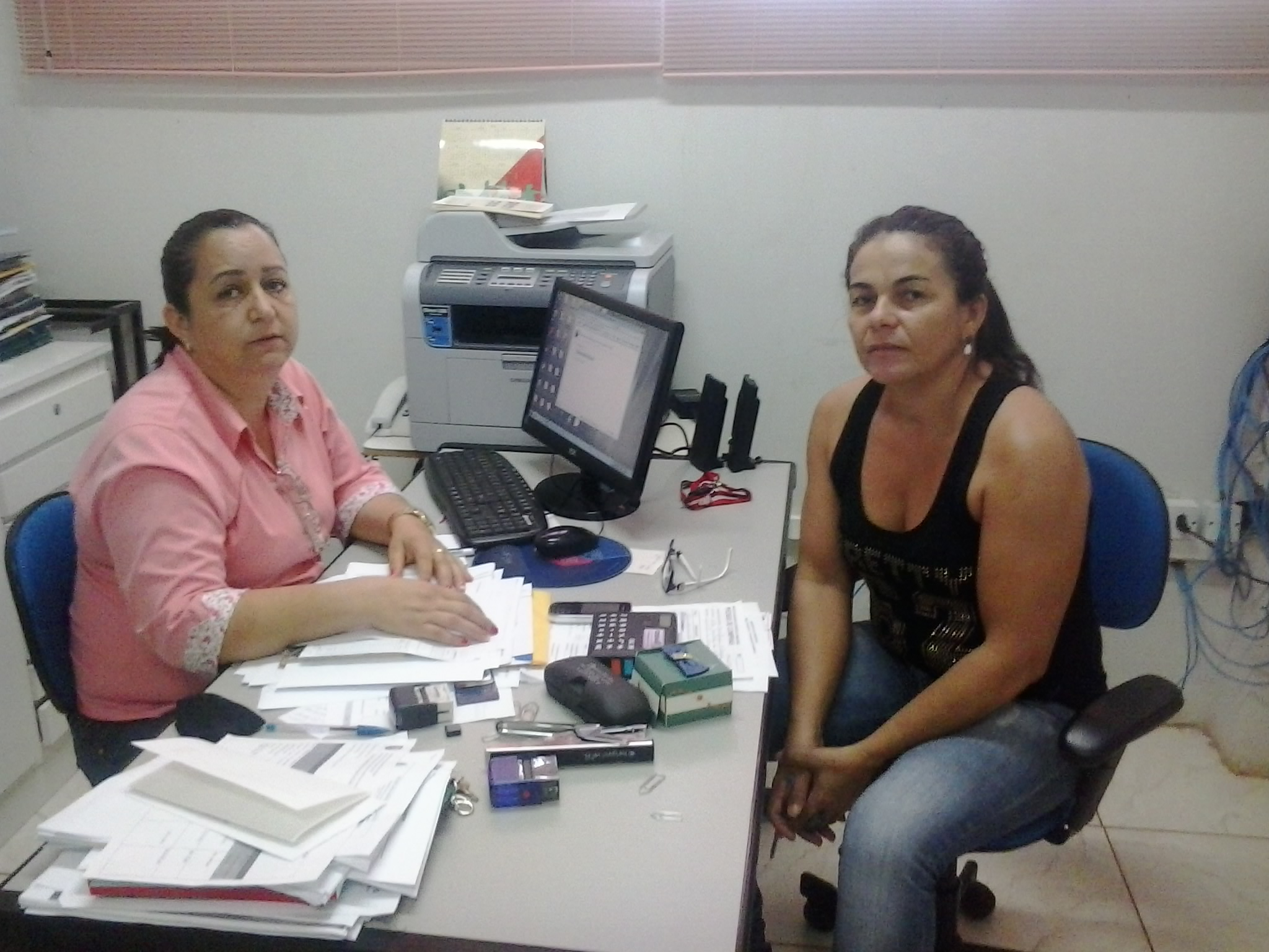 Simone Dantas (esq) e Maria Nazaré