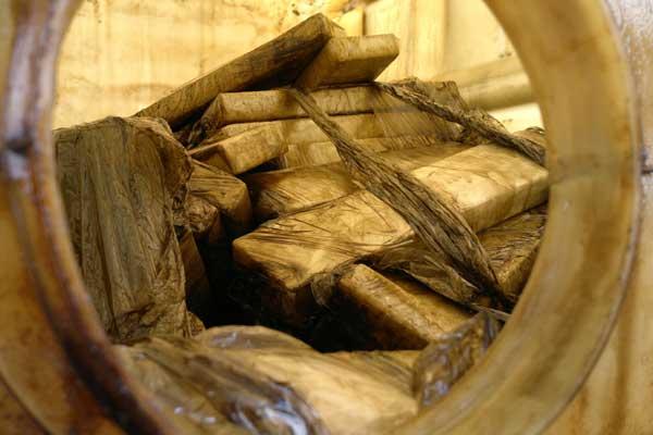 Cerca de 200kg de maconha estavam em caminhonete com placas de Campo Grande / Foto: Diogo Machado