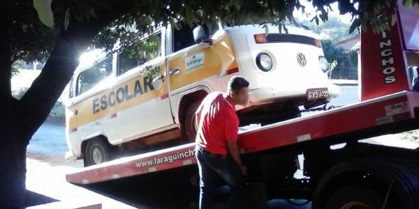 Veículo perdeu o freio se tombou na avenida Minas Gerais / Foto: Pontal em Foco