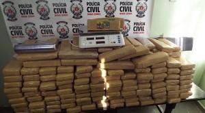 Droga apreendida pela Polícia Civil