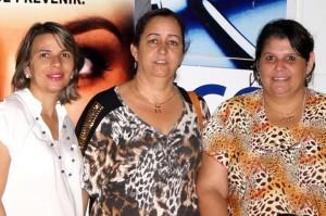 (esq) Gianine Ribeiro, Simone Dantas e Ana Cláudia Fonseca