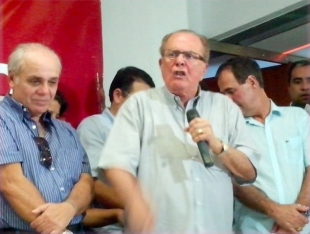O deputado Federal João Lyra em discurso