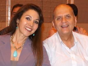 Prefeita Dinair Isaac e o esposo Luiz Isaac