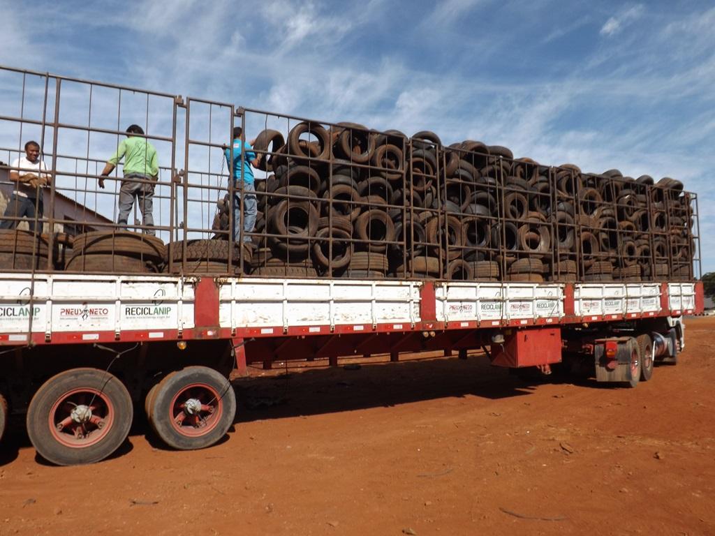 Prefeitura de Ituiutaba realiza destinação final para mais de 20 toneladas de pneus irreversíveis