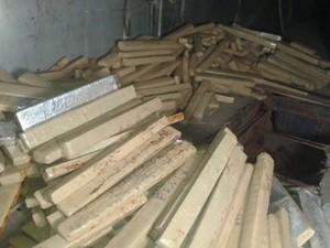 Foram encontrados 991 tabletes de maconha (Foto: Polícia Militar/Divulgação)