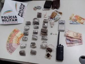 PM prendeu seis suspeitos e apreendeu dois  adolescentes (Foto: Polícia Militar/Divulgação)