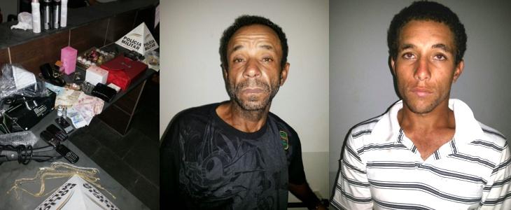 Dois homens e uma mulher foram presos