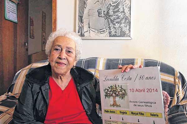 Leonilda dos Santos Costa tem saudade dos jantares em que ia com o marido, o jornalista Marçal Costa, nos clubes da cidade (Foto: Celso Ribeiro)