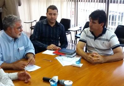 (Esq) Anderson Adauto, Caetano Neto e Cleidimar Zanotto