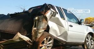 veículo ficou destruído