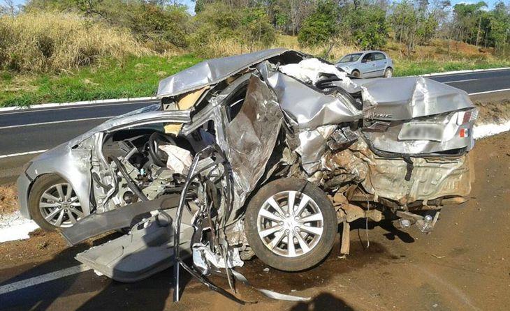 Policial Militar e Sargento do Corpo de bombeiros morrem em acidente na BR-153 próximo à Centralina