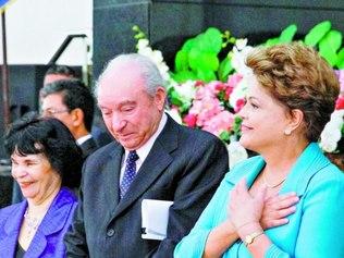 Dilma Rousseff participou ontem de evento com pastores evangélicos e visitou Iturama (MG)