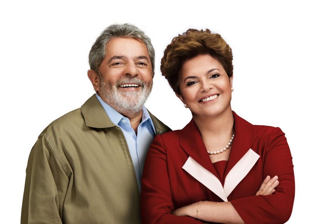 Ex-presidente Lula e a presidente Dilma