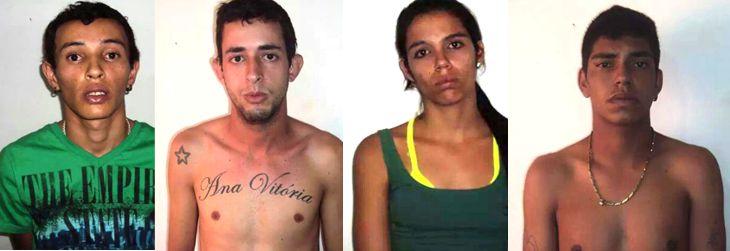 PM prende quatro pessoas no bairro Campos Elíseos por suspeita de envolvimento com o tráfico de drogas em Capinópolis