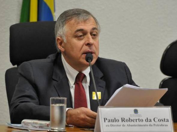 Ex-diretor da Petrobras Paulo Roberto da Costa, durante depoimento no Congresso