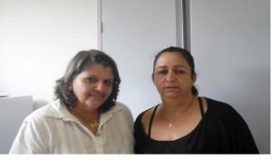 (esq) Ana Cláudia Fonseca e Simone Dantas