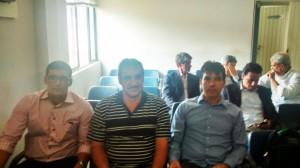 (esq) Alan, Jorginho, Cleidimar