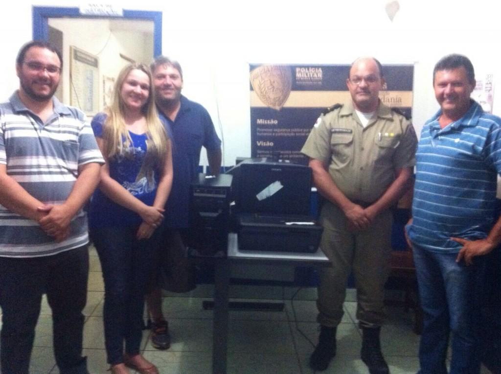 CONSEP faz doação de micro-computador à Polícia Militar de Capinópolis