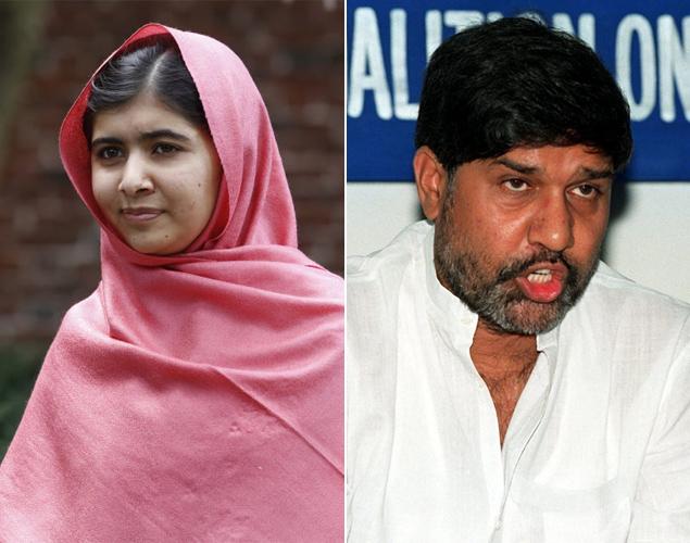 Malala Yousafzai e Kailash Satyarthi, ganhadores do Prêmio Nobel da Paz