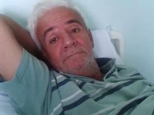 José Gaspar foi internado devido às fortes dores (Foto: Katielle Mendes/Arquivo Pessoal)