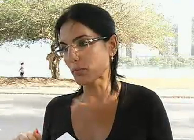 A agente de trânsito Luciana Silva Tamburini