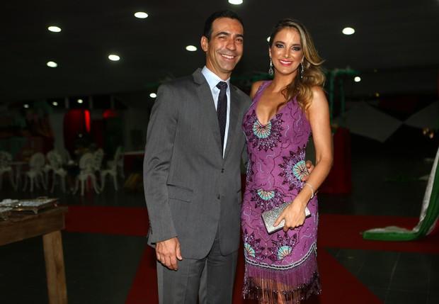 César Tralli e Ticiane Pinheiro no GRAAC (Foto: Iwi Onodera / EGO)