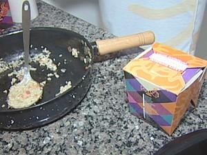 Alimentos são oferecidos em embalagens decoradas (Foto: Reprodução/ TV Integração)