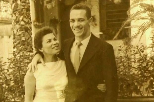 Hilda e Paulo Valentim se conheceram em Belo Horizonte, quando ele jogava no Atlético