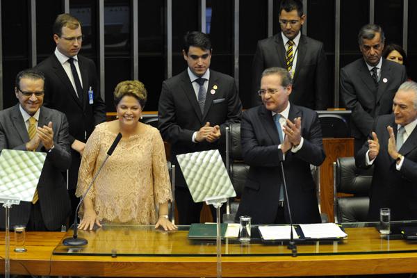 Dilma no Congresso durante posse (Foto: Divulgação Agência Brasil)