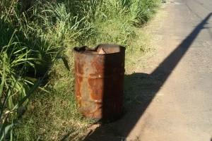 Corpo de empresária foi encontrada em latão no Distrito Industrial (Foto: Polícia Militar MG/Divulgação)