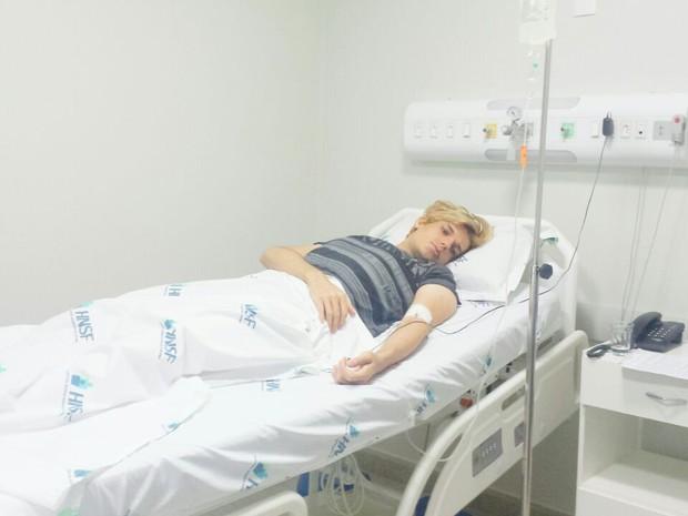 Celso foi transferido de Araxá para hospital em Patos de Minas que confirmou doença (Foto: Celso Santebañes/Arquivo Pessoal)