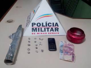 Traficante é preso pela PM em Ituiutaba / foto: Divulgação