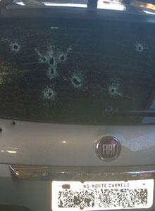 O promotor Marcus Vinícius Ribeiro, de 33 anos, foi surpreendido em seu carro ao sair da Promotoria