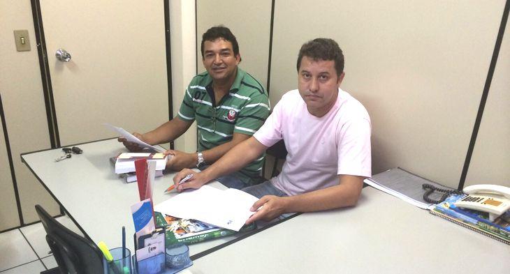 (Esq) Oldair Almeida e Caetano Neto da Luz