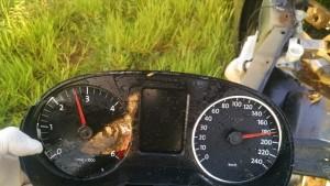 Marcador travou em 180km/h
