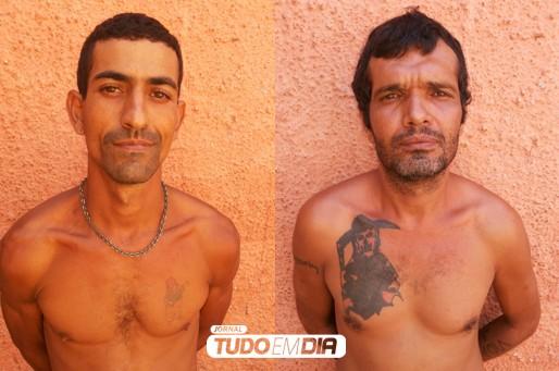 Foragidos da justiça de Capinópolis foram capturados  (Esq) Paulo Henrique Alves e Nilo