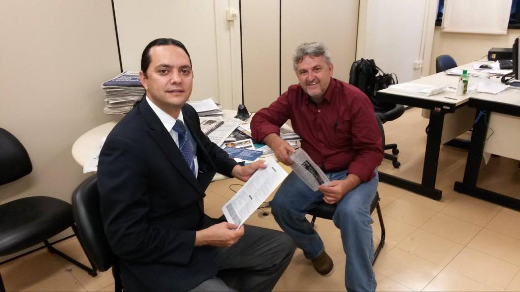 Deputado Elismar Prado (esq) e o vereador Cabral em Belo Horizonte