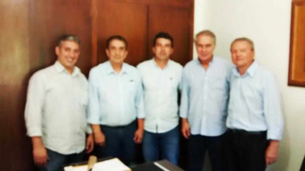 (Esq) Ronaldo, Voney, Cleidimar Zanotto, Marcos Montes e José Joaquim