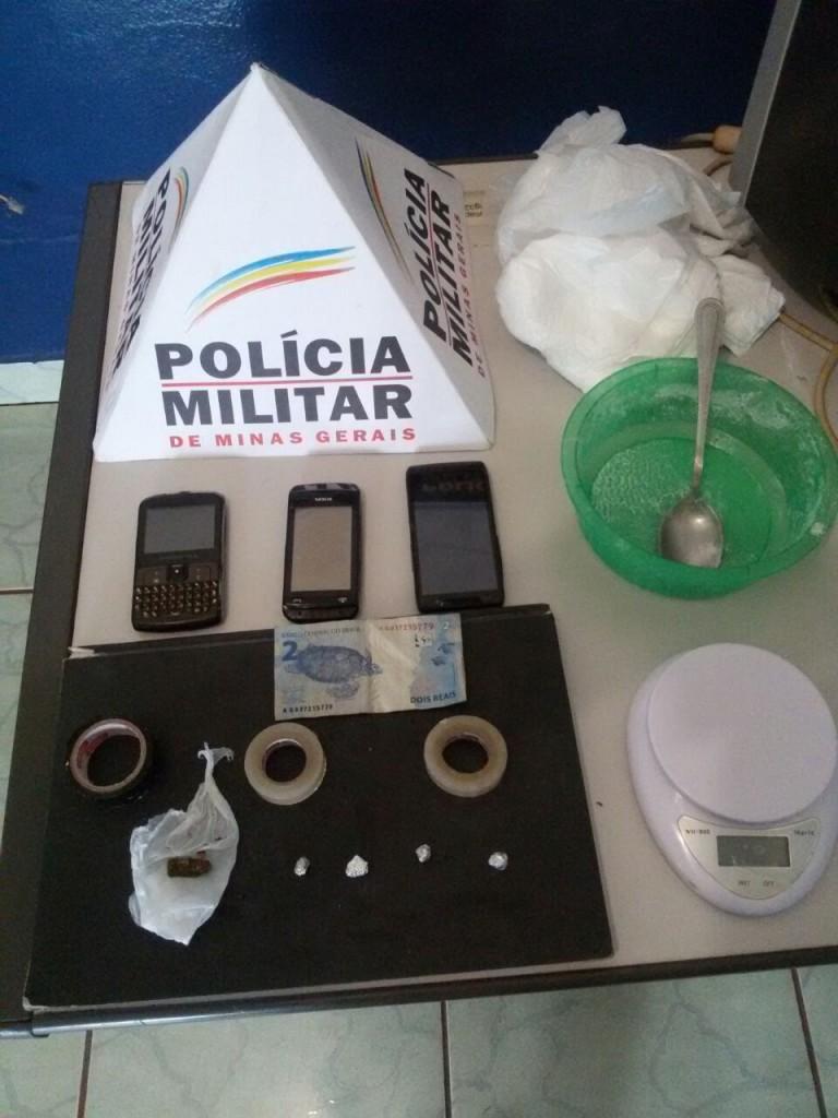 Material apreendido durante a operação da PM